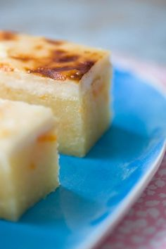 Cassava Cake What it is: A creamy, not-too-sweet dessert made from cassava root and coconut milk.  Why it's awesome: It's sweet, but not cloyingly so. For texture, the top is broiled until it's almost crunchy. It can also be made gluten-free.