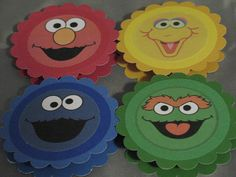 Sesame Street character clips for bags or decoration