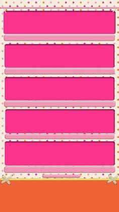 iPhone 5 Wallpaper - pink shelves with orange base
