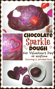 Chocolate Sparkle Play Dough. Pinned by The Sensory Spectrum.
