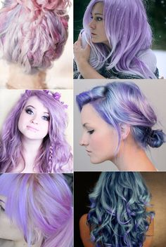 purple hair, hair colors, colored hair, mermaid hair, hair beauty, blue hair, lilac hair, pastel colors, pastel hair