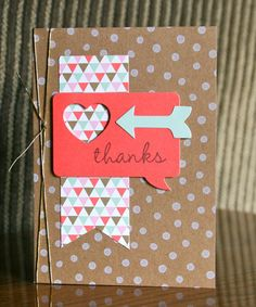 Stampin' Up! Card by Krystal's Cards and More: Hip Hip Hooray Hello and Thank You