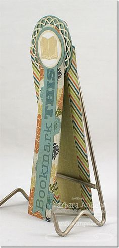 8/4/2012; Barbara Anders at 'Paper Pursuits' blog; MFT Bookmark Duo and Stamps