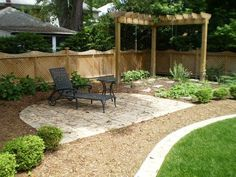 Simple Backyard Landscaping | 24 Simple Backyard Landscaping Ideas Which Look Exceptional - SloDive Landscaping Ideas, Landscapes Ideas, Small Backyards,  Terraces, Backyards Ideas, Patios, Landscapes Design, Fire Pit, Backyards Landscapes