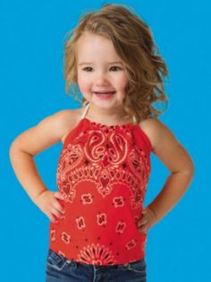 How cute is this kids bandana halter top? Find out how to make it with this tutorial.