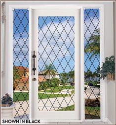window film, glass doors, orlean black, glasses, cling window