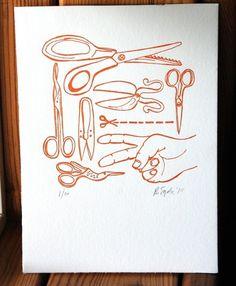 scissors.