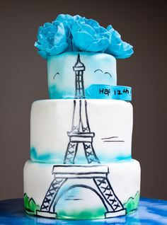 Eiffel Tower Cake-1