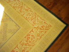 painted floor cloth by Steph Designs on facebook