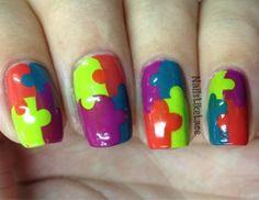 NailsLikeLace: Puzzle Piece Nails