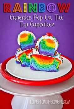 Rainbow #CakePop #Cupcakes by Love From The Oven