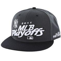 '47 Brand New York Yankees Charcoal 2011 MLB Playoff Locker Room Snapback Adjustable Hat
