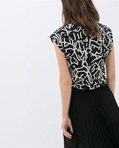 PRINTED CROP T-SHIRT from Zara
