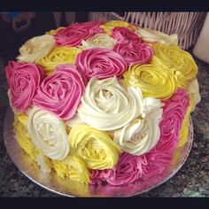 60th cake, flower cakes, color rose, 60th birthday cakes