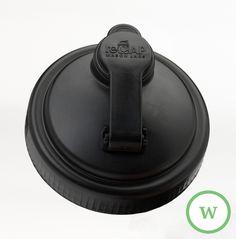 reCAP Mason Jars Pour Cap - Wide-Mouth BLACK