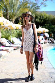 Coachella and crochet go together like … Coachella and crochet! Face it, it's a festival staple. (2014)