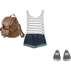 """""""First Day of Highschool Outfit"""" by abigail-gildersleeve on Polyvore"""