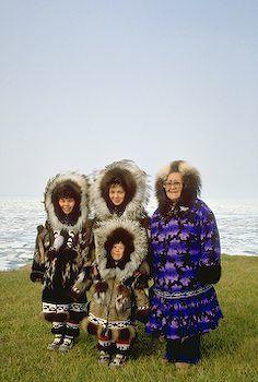 Alaska Inupiat Eskimo Family