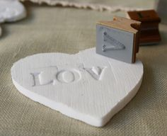 personalised Christmas ornaments from air dry clay