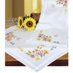 Spring Flowers Table Runner