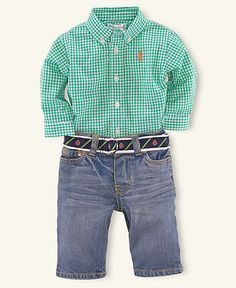 Baby boy polo outfit
