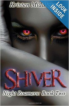 Shiver (Night Roamers) (Volume 2) by Kristen Middleton.  Cover image from amazon.com.  Click the cover image to check out or request the science fiction and fantasy kindle.