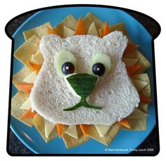 Cute idea for a kid's sandwich