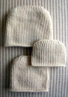 Heel-stitch hat, purl bee. Cute!