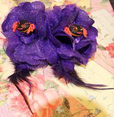 Google Eye Spiders Rockabilly Crystal Flower Set by FilthyCoffin, $7.00  Free world shipping  tarina tarantino