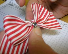 Tina's Brad Bow Tutorial for wide ribbon.