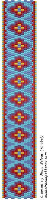 The scheme bracelet - double mosaic / 2-drop peyote bracelet pattern