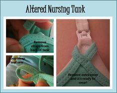 DIY nursing tank you can wear over a nursing bra.