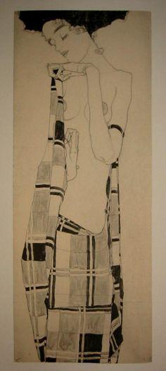Gerti Schiele      by Egon Schiele ( 1890~1918 / Style: Expressionism/  Nationality: Austria)