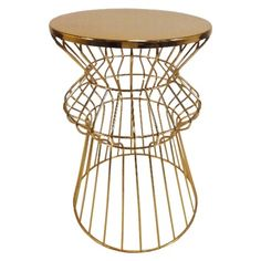 this metallic wire table is destined to become a classic