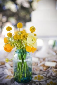 golden yellow wedding flowers