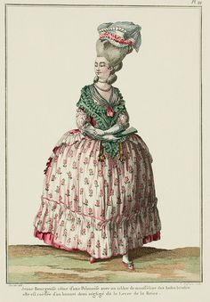 1778. Pink-green dress. France.