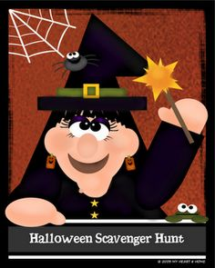 Halloween Scavenger hunt and much more, cute Halloween games for kids