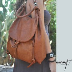(i have this & love it!) Handmade leather backpack named Daphne in Brandy by iyiamihandbags, $299.00