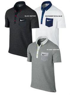 Nike Golf | Mens Golf Shirts | Sport Chest Pocket Polo