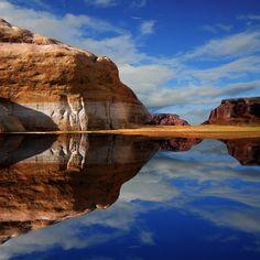 Reflection of Lake Powell, Az.