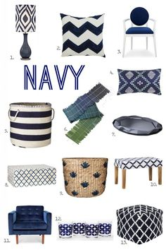 For the Love of Color: Navy from @Michael Dussert Wurm, Jr. | inspiredbycharm.com | Get the full post on our Style Spotters blog: http://www.bhg.com/blogs/better-homes-and-gardens-style-blog/2014/04/28/8012/