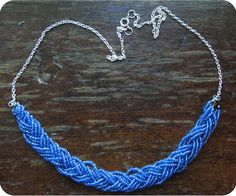 DIY Braided Bead Necklace   Neon Rattail