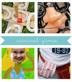 party games, carniv parti, birthday parties, parti game, carnival birthday, game food, carnival games, parti idea, vintage carnival