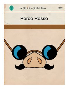 Jason K's Porco rosso vintage style book cover