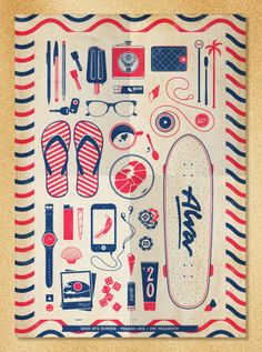 Good Bye Summer Poster by Emiliano Aranguren, via Behance