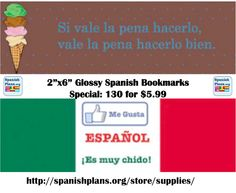 Spanish Bookmarks. Summer Special, while supplies last.