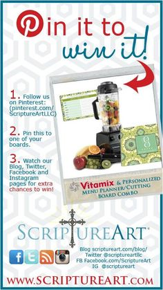 Pin to win #VITAMIX!! You can enter EVERY DAY until Dec 7th! #giveaway