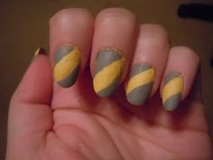This looks nasty, but it could be done right color nail, caution tape, nail arts, tape color, nail design