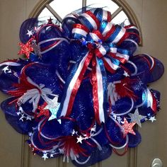 4th of July Deco Mesh Wreath