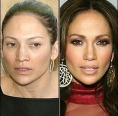 J-Lo without makeup. There's hope for us all.